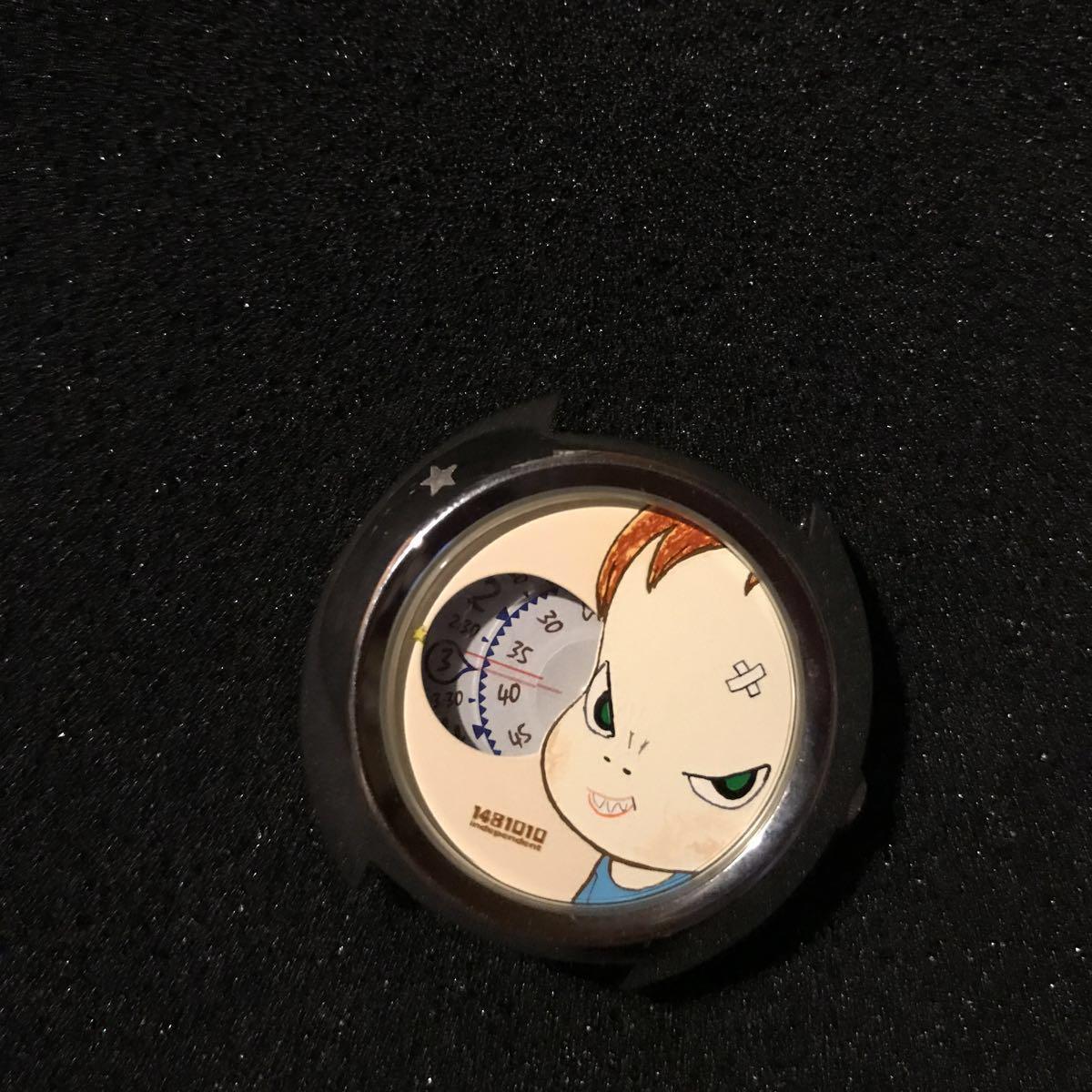 送料込 2001年シチズン製 『奈良美智』 腕時計 缶ケース付き SLASH WITH A KNIFE 希少 現代アート_画像10