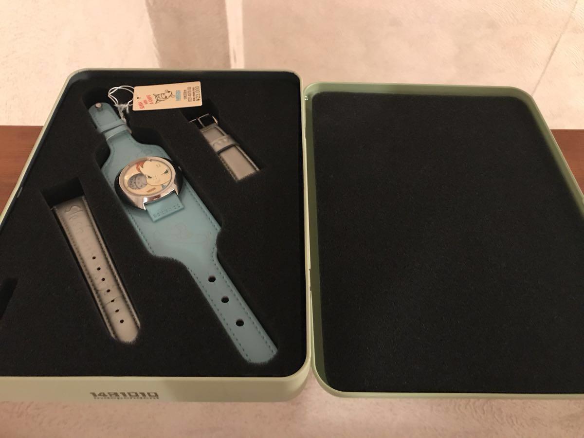 送料込 2001年シチズン製 『奈良美智』 腕時計 缶ケース付き SLASH WITH A KNIFE 希少 現代アート_画像2