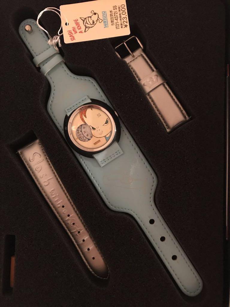 送料込 2001年シチズン製 『奈良美智』 腕時計 缶ケース付き SLASH WITH A KNIFE 希少 現代アート_画像5