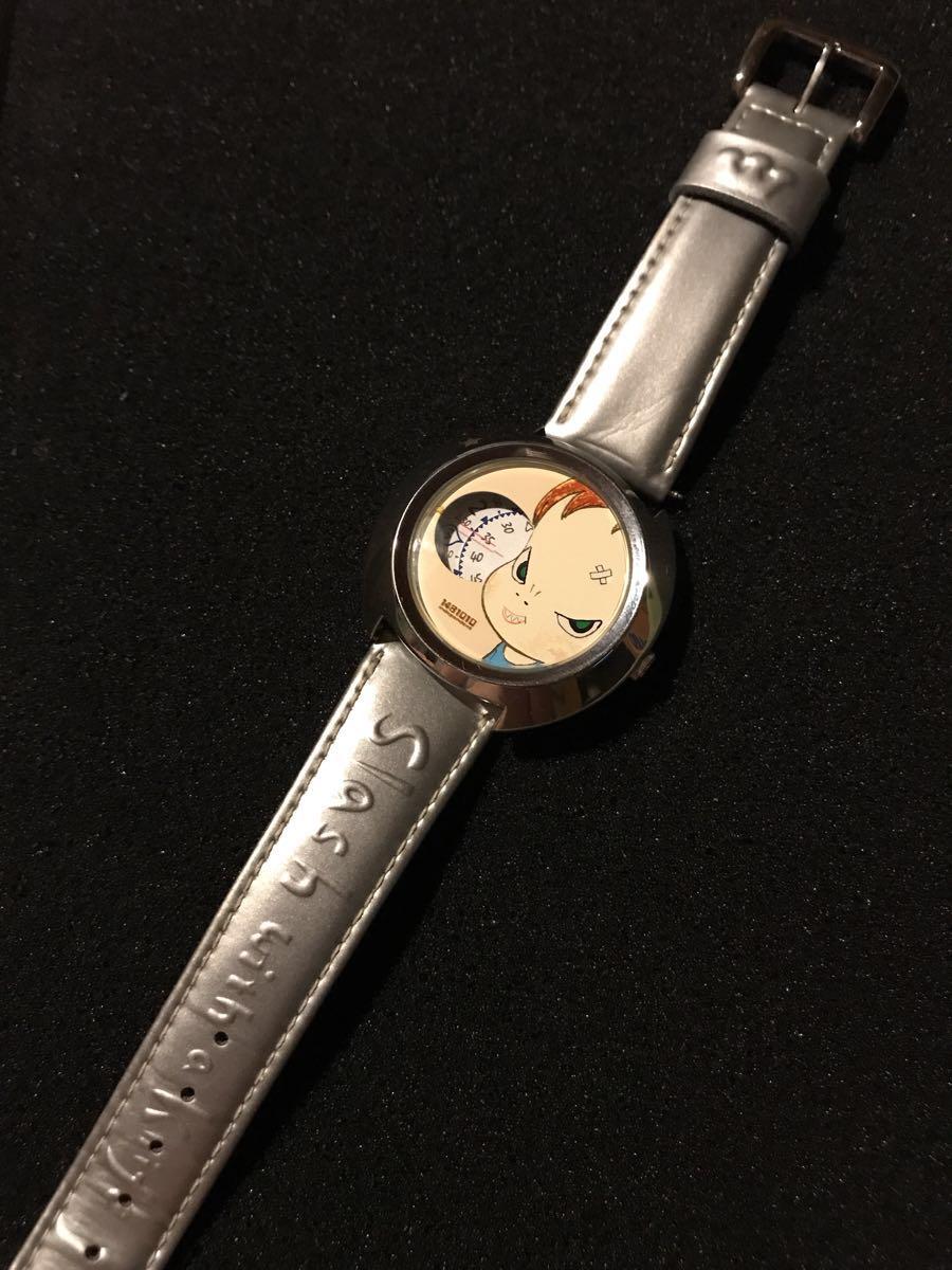 送料込 2001年シチズン製 『奈良美智』 腕時計 缶ケース付き SLASH WITH A KNIFE 希少 現代アート_画像6