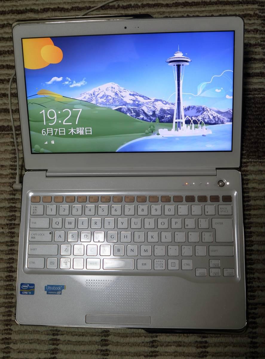富士通 ノートパソコン Floral Kiss CH55/J 13.3型 FMVC55JW  HDD500GB+高速処理用SSD  送料無料