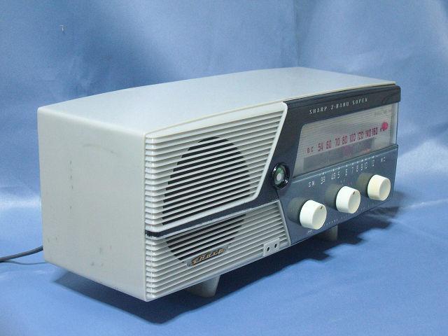 シャープ 真空管ラジオ 2バンド5級スーパー(マジックアイ付き)UM-160 動作品_画像3