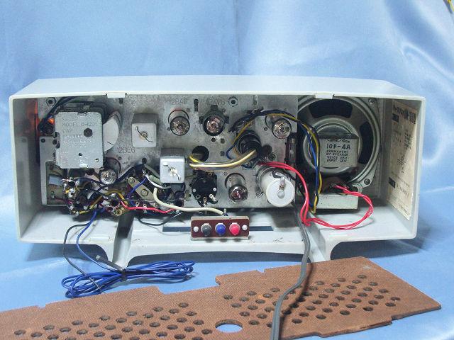 シャープ 真空管ラジオ 2バンド5級スーパー(マジックアイ付き)UM-160 動作品_画像5