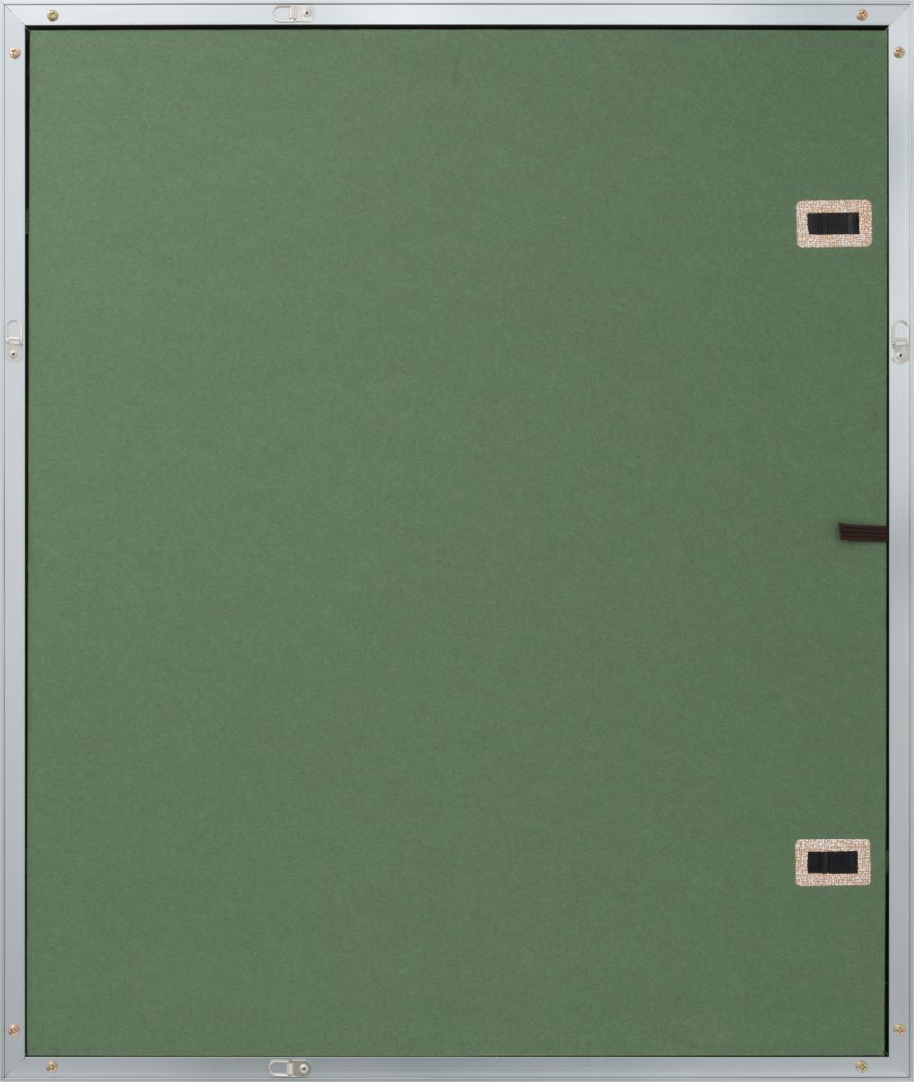 油絵額縁 油彩額縁 アルミフレーム 受注生産品 DA-603 シルバー マットC アクリル サイズF12号_画像3