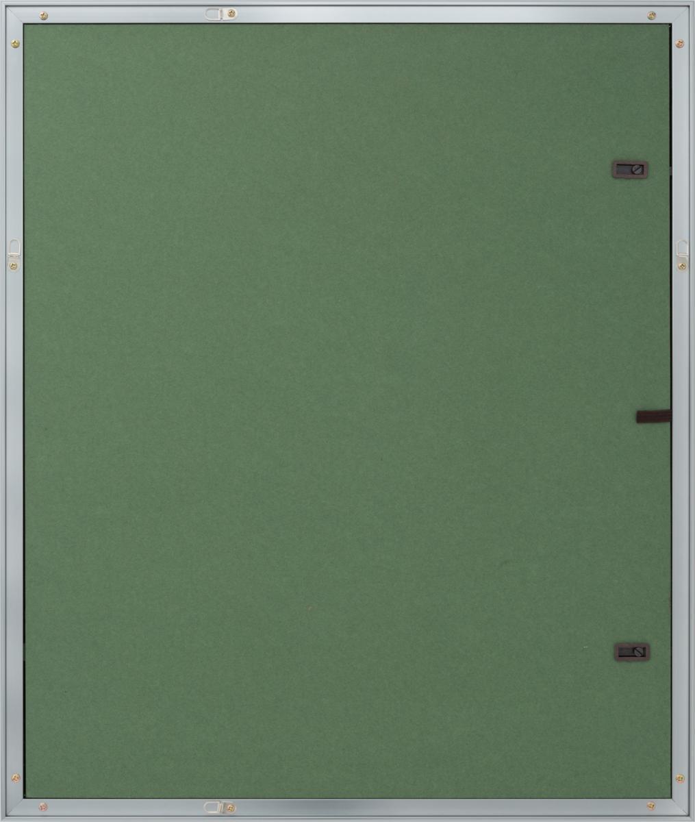 油絵額縁 油彩額縁 アルミフレーム 受注生産品 8182 シルバー マットC アクリル サイズM15号_画像3