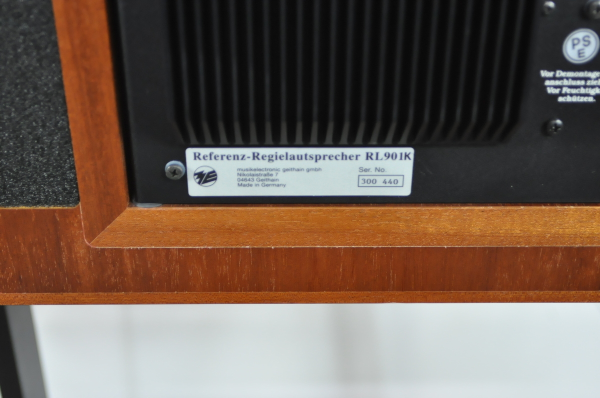 〇Musikelectronic Geithain ムジークエレクトロニクガイザイン RL901K Referenz-Regielautsprecher 1台 スピーカー スタンド 【保証品】_画像6