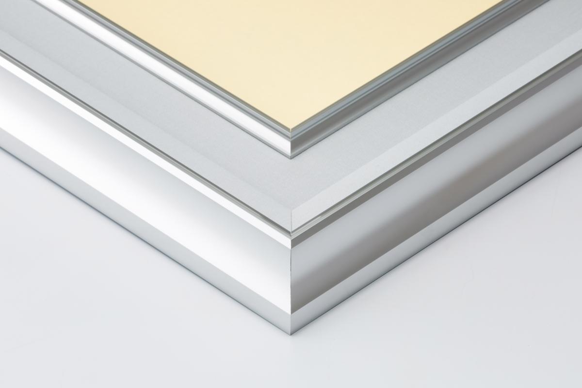 油絵額縁 油彩額縁 アルミフレーム 受注生産品 DA-603 シルバー マットC アクリル サイズF12号_画像2