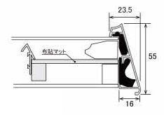 油絵額縁 油彩額縁 アルミフレーム 受注生産品 8182 シルバー マットC アクリル サイズM15号_画像5
