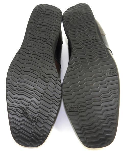 レディース左右サイズ違い靴 ハッシュパピー Hush Puppies 本革レディースレースアップヒールスニーカー 左24cm右24.5cm 幅広3E 茶 S4805_画像5