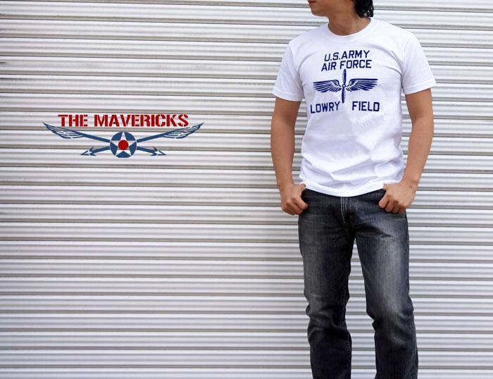 極厚 Tシャツ S スーパーヘビーウェイト フロッキー LOWRY FIELD ARMYエアフォース米陸軍航空隊 / 白 ホワイト_画像6
