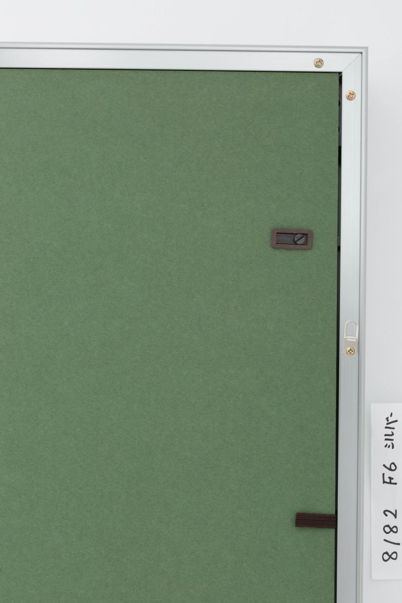 油絵額縁 油彩額縁 アルミフレーム 受注生産品 8182 シルバー マットC アクリル サイズM15号_画像4
