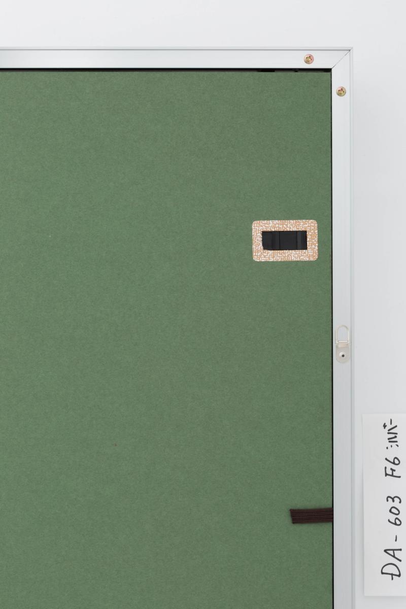 油絵額縁 油彩額縁 アルミフレーム 受注生産品 DA-603 シルバー マットC アクリル サイズF12号_画像4