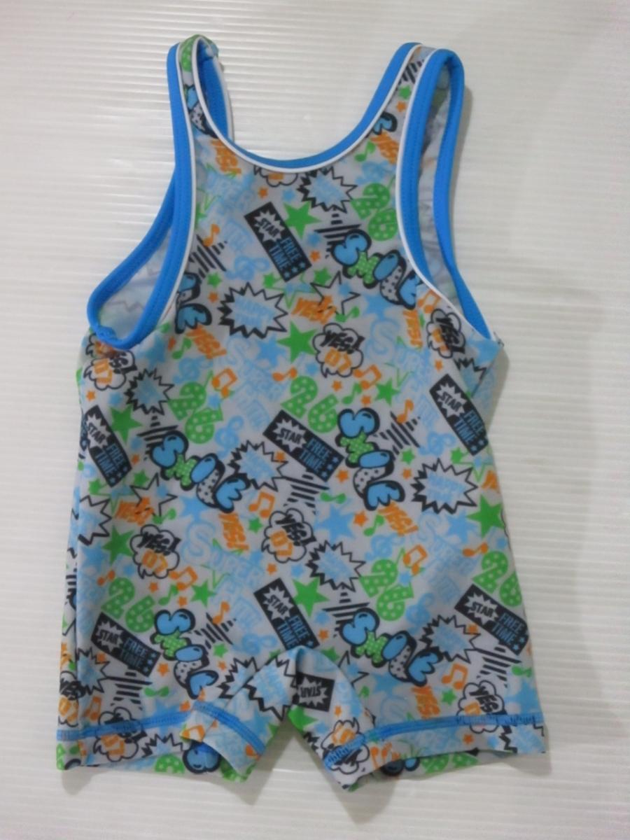 43f91c7f8d9 代購代標第一品牌- 樂淘letao - 男の子水着90cm ブルーコミック柄グレコローマンスタイル