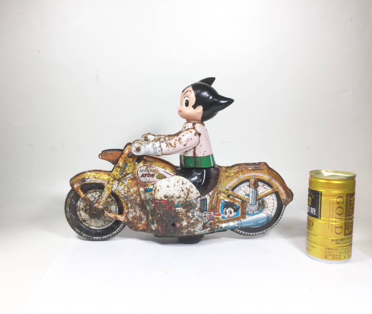 鉄腕アトム 浅草玩具 オートバイ 大型サイズ 1960年代 当時もの レトロ ビンテージ フリクション走行 バイク 虫プロ _画像3