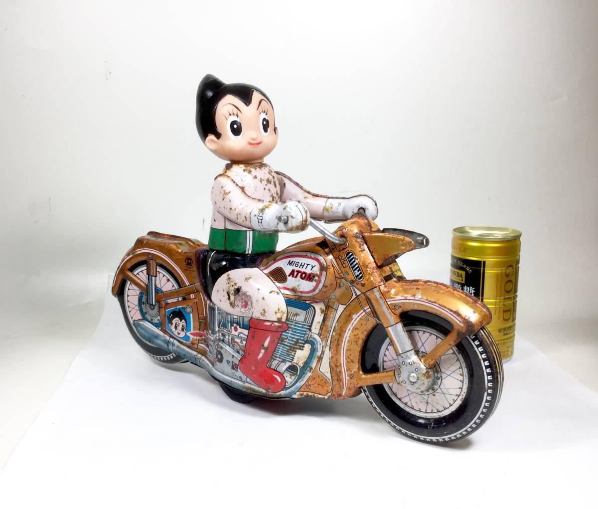 鉄腕アトム 浅草玩具 オートバイ 大型サイズ 1960年代 当時もの レトロ ビンテージ フリクション走行 バイク 虫プロ