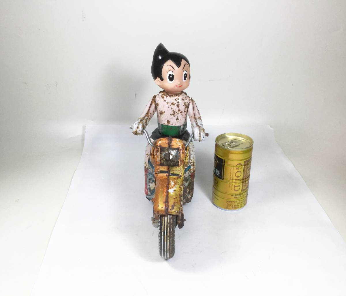 鉄腕アトム 浅草玩具 オートバイ 大型サイズ 1960年代 当時もの レトロ ビンテージ フリクション走行 バイク 虫プロ _画像4