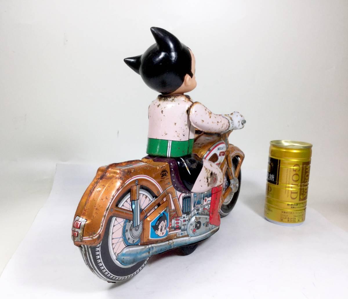 鉄腕アトム 浅草玩具 オートバイ 大型サイズ 1960年代 当時もの レトロ ビンテージ フリクション走行 バイク 虫プロ _画像6