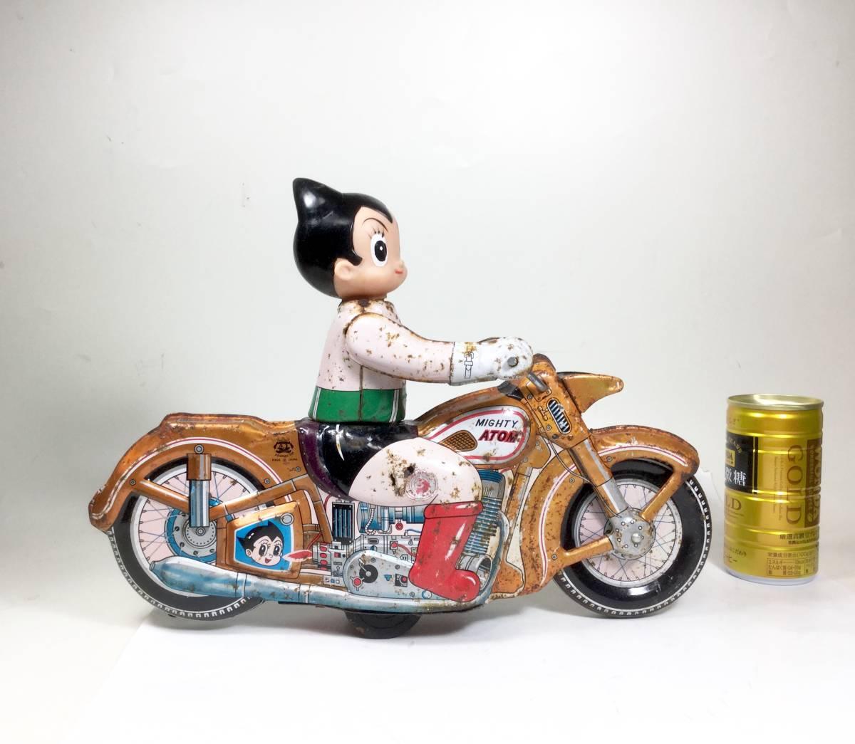 鉄腕アトム 浅草玩具 オートバイ 大型サイズ 1960年代 当時もの レトロ ビンテージ フリクション走行 バイク 虫プロ _画像8