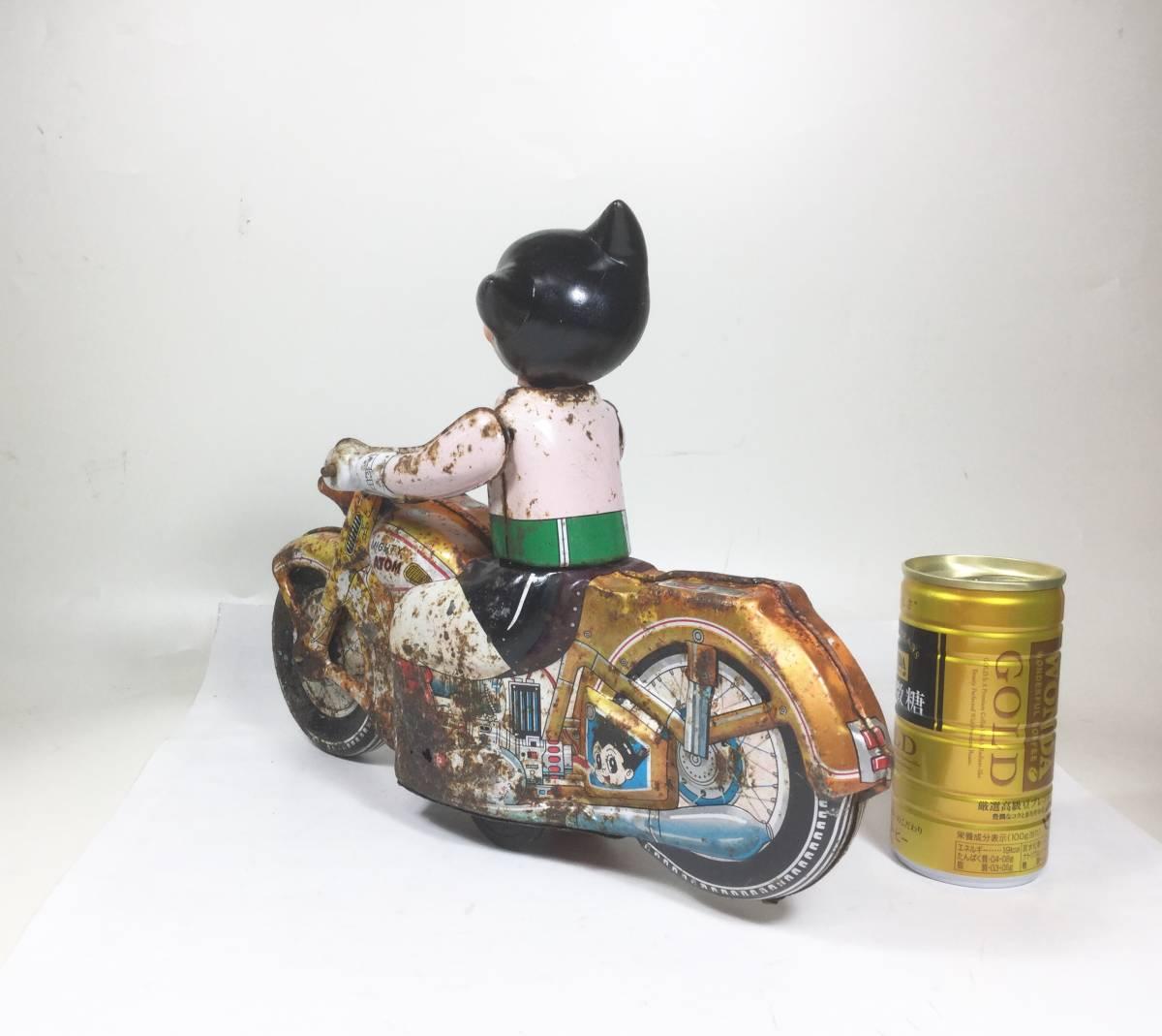鉄腕アトム 浅草玩具 オートバイ 大型サイズ 1960年代 当時もの レトロ ビンテージ フリクション走行 バイク 虫プロ _画像5