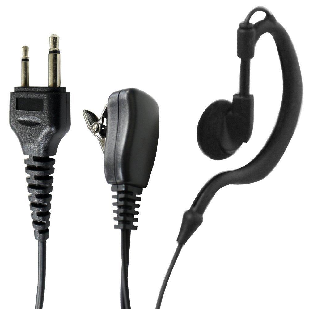 ALINCO(アルインコ)等トランシーバー対応互換 2ピン用耳掛けイヤホンマイク ICOM(アイコム)