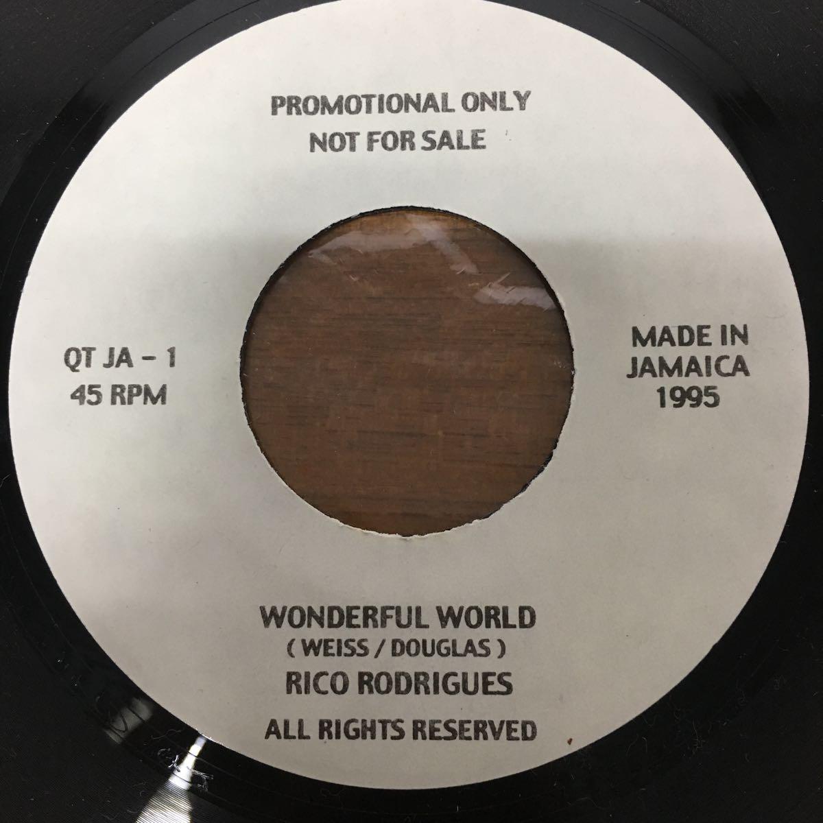 WONDERFUL WORLD / RICO RODRIGUES 7インチレコード 非売品? レア rocksteady ska カバー