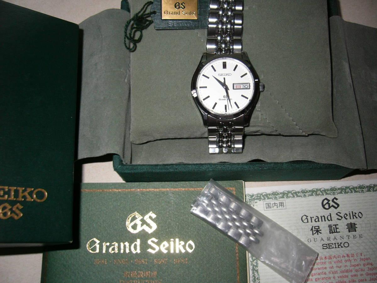 時の記念日に特別出品!Graud Seiko SBGT001 電池交換済み 9F83-9A00 旧ロゴ グリーンBOX付き_画像5