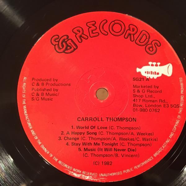 ★Carroll Thompson/Carroll Thompson★LOVERS ROCK名盤!_画像2