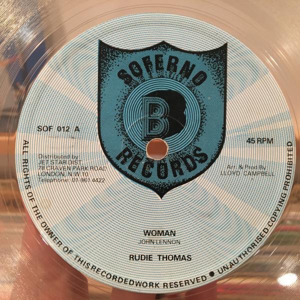 ★Ruddy Thomas/Woman★名曲カバー!LOVERS ROCK!_画像1