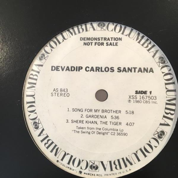 ☆Devadip Carlos Santana/Song For My Brother☆プロモのみ12!_画像1