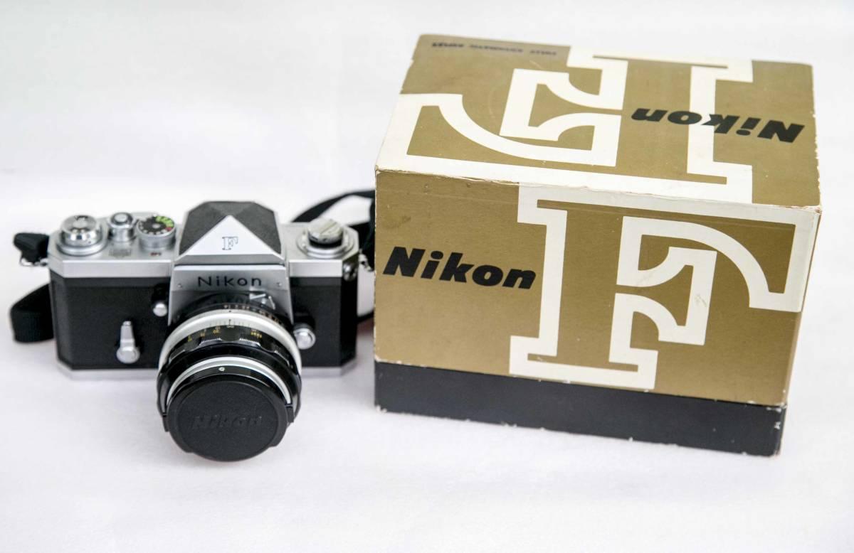 Nikon F アイレベル 58mmF1.4 レンズ付 動作確認品_画像2