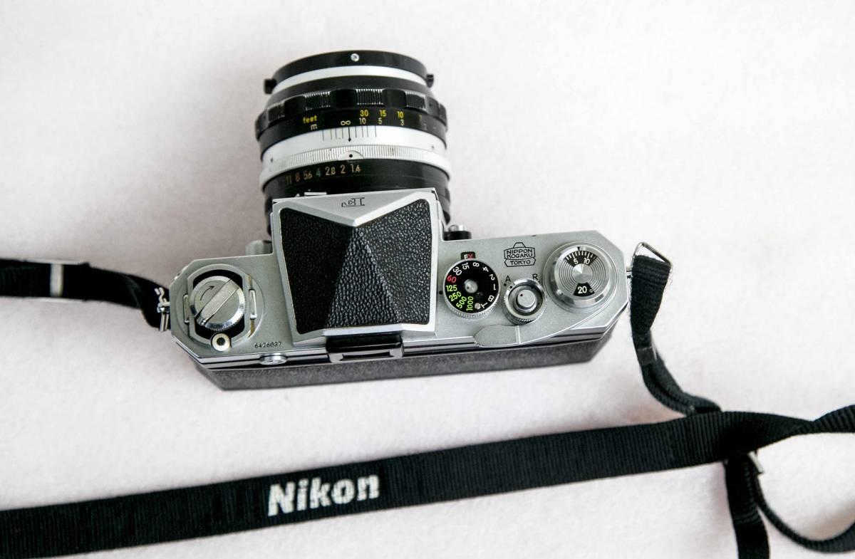 Nikon F アイレベル 58mmF1.4 レンズ付 動作確認品_画像7
