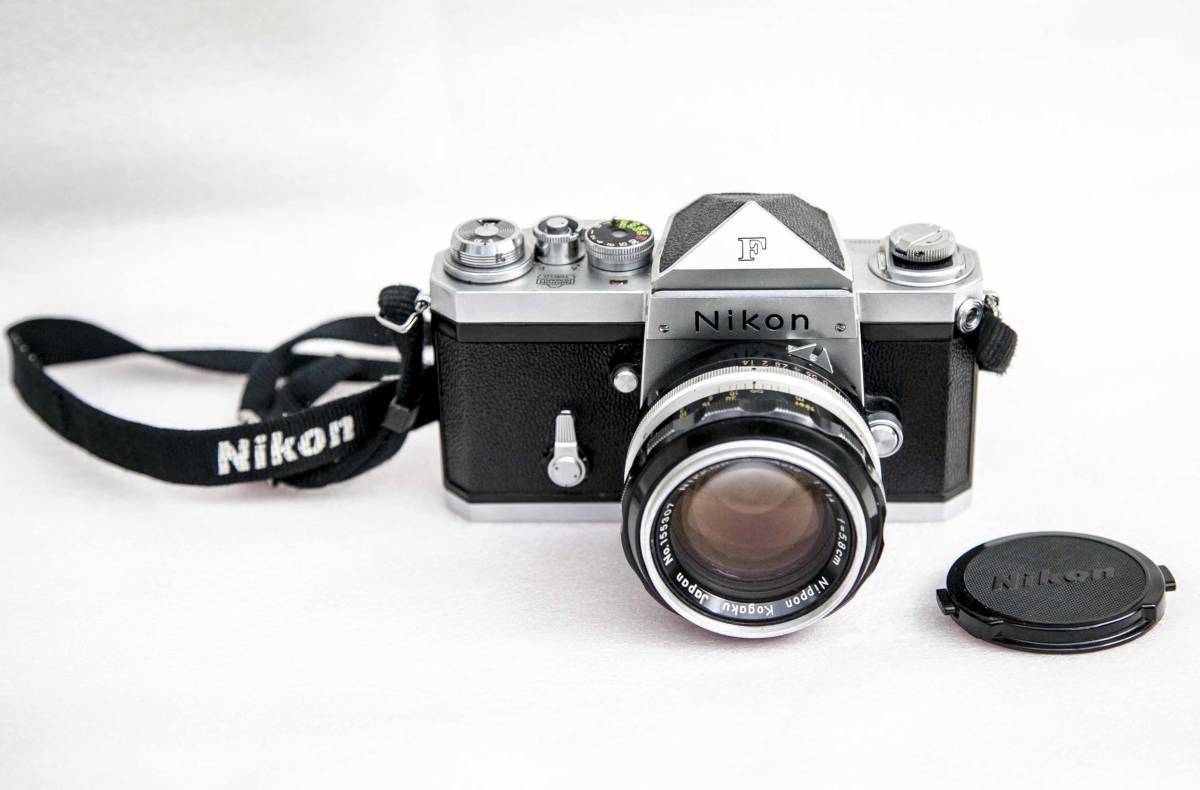 Nikon F アイレベル 58mmF1.4 レンズ付 動作確認品