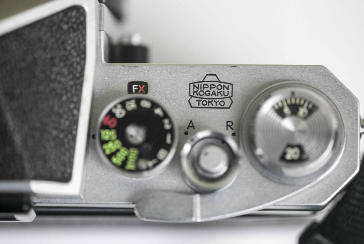 Nikon F アイレベル 58mmF1.4 レンズ付 動作確認品_画像6