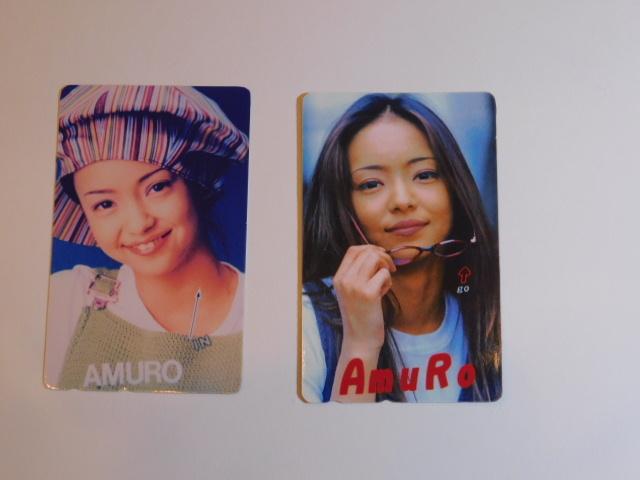 【未使用美品】 若かりし安室奈美恵さんテレカ 2枚
