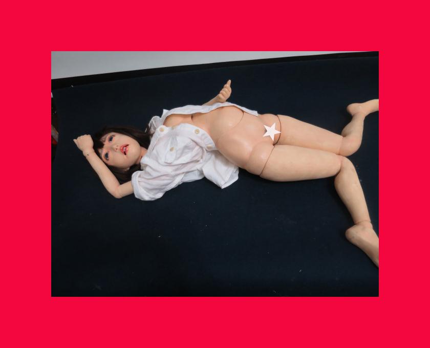 【人形館】「内田欣二生き人形B-186」ビスクドール・洋人形.球体関節人形.生き人形〝ビ〟_作家物リアルな生き人形です。