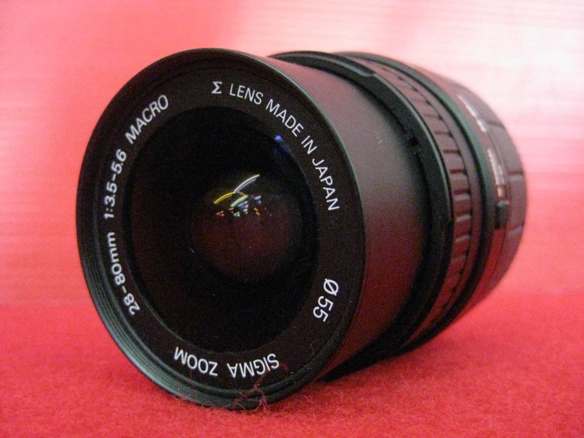 【ハッピー】SIGMA シグマ レンズ ZOOM AF 28-80mm F3.5-5.6 MACRO φ55 ASPHERICAL ミノルタ用 3035315_画像1