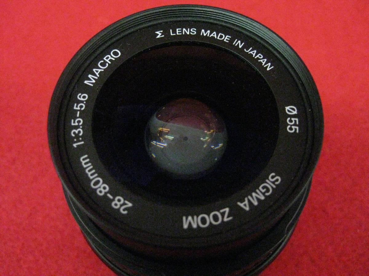 【ハッピー】SIGMA シグマ レンズ ZOOM AF 28-80mm F3.5-5.6 MACRO φ55 ASPHERICAL ミノルタ用 3035315_画像2