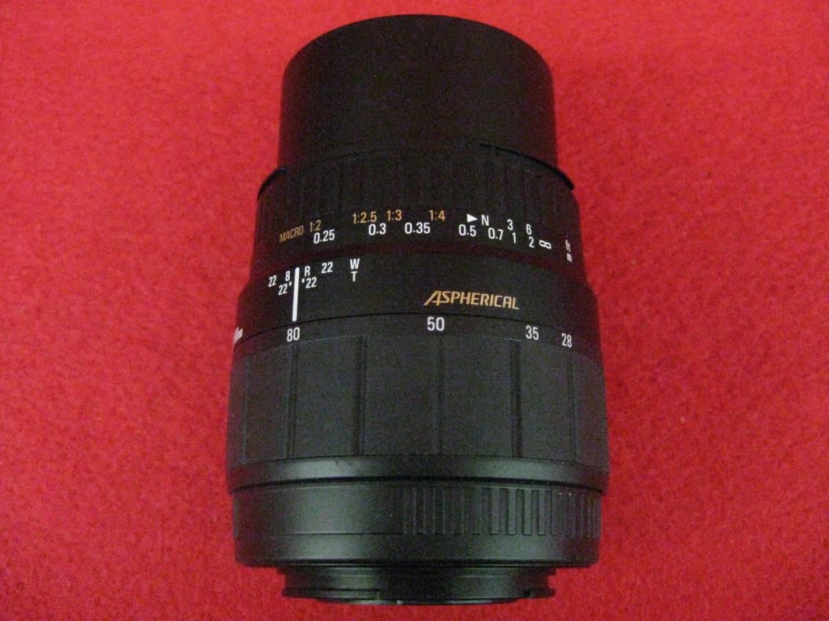 【ハッピー】SIGMA シグマ レンズ ZOOM AF 28-80mm F3.5-5.6 MACRO φ55 ASPHERICAL ミノルタ用 3035315_画像4