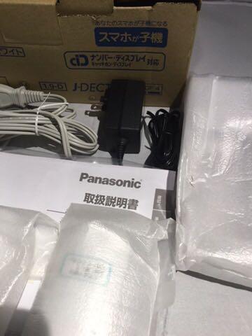 新品同様1円~ ほぼ未使用品 Panasonic パナソニック デジタルコードレス電話機 RU・RU・RU VE-GDW54DL-W ホワイト 80サイズ_画像4
