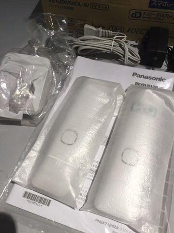 新品同様1円~ ほぼ未使用品 Panasonic パナソニック デジタルコードレス電話機 RU・RU・RU VE-GDW54DL-W ホワイト 80サイズ_画像3