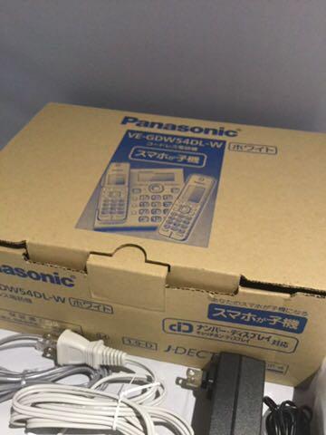 新品同様1円~ ほぼ未使用品 Panasonic パナソニック デジタルコードレス電話機 RU・RU・RU VE-GDW54DL-W ホワイト 80サイズ_画像6