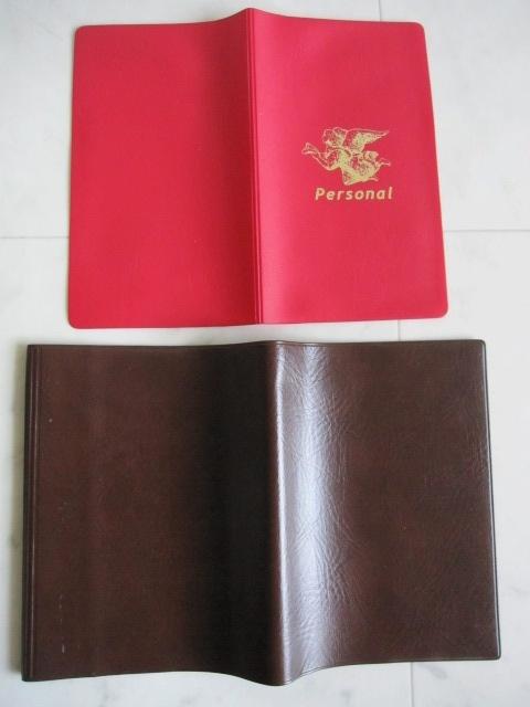 綺麗め 文具 読書 小説 手帳 ブックカバーセット ブラウン しっかり素材 レッド 2点セット 特 得_画像2