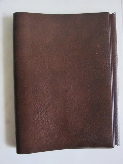 綺麗め 文具 読書 小説 手帳 ブックカバーセット ブラウン しっかり素材 レッド 2点セット 特 得_画像4