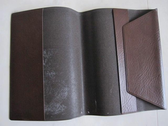 綺麗め 文具 読書 小説 手帳 ブックカバーセット ブラウン しっかり素材 レッド 2点セット 特 得_画像6