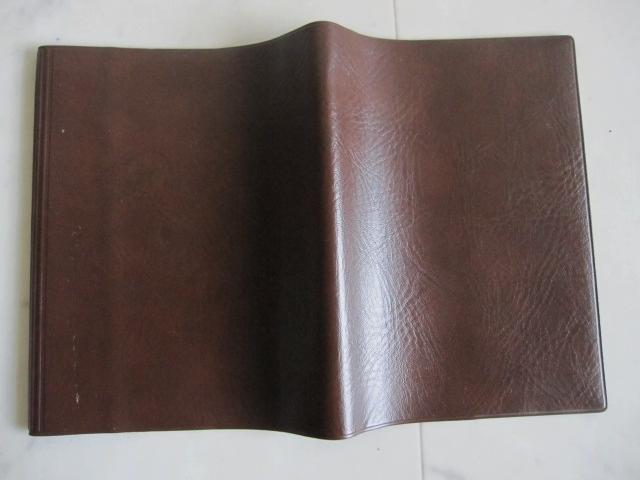 綺麗め 文具 読書 小説 手帳 ブックカバーセット ブラウン しっかり素材 レッド 2点セット 特 得_画像7