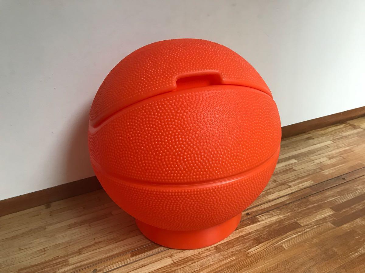 レア little tikes リトルタイクス バスケットボール型 USA製 おもちゃ箱 トイボックス おしゃれにお片付け 収納 ボックス BOX_画像3