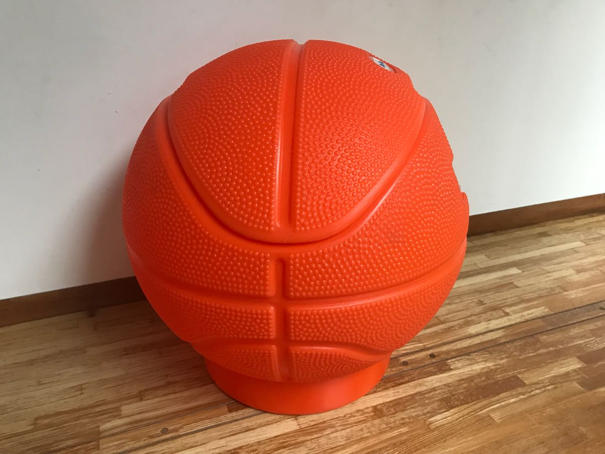 レア little tikes リトルタイクス バスケットボール型 USA製 おもちゃ箱 トイボックス おしゃれにお片付け 収納 ボックス BOX_画像4