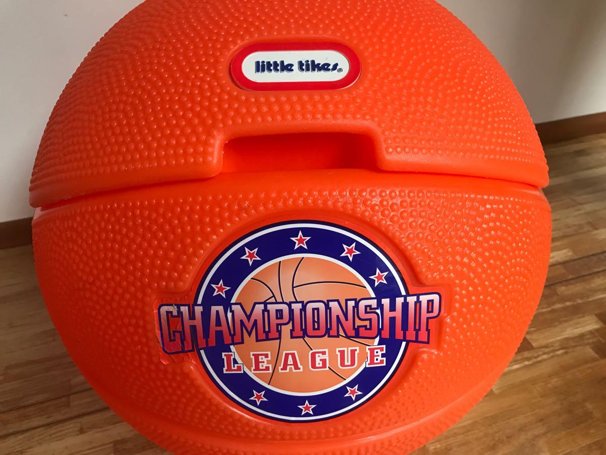 レア little tikes リトルタイクス バスケットボール型 USA製 おもちゃ箱 トイボックス おしゃれにお片付け 収納 ボックス BOX_画像10