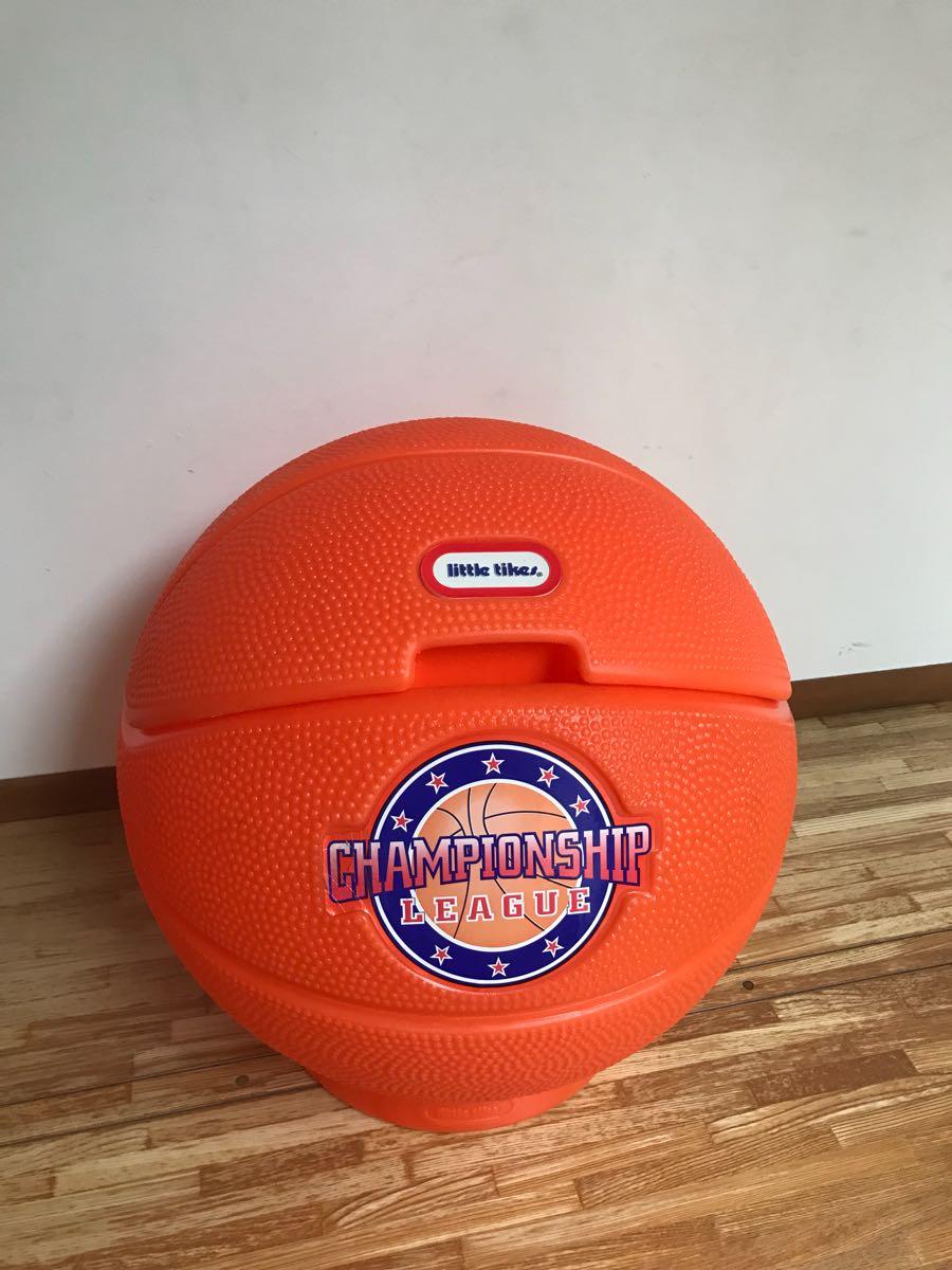 レア little tikes リトルタイクス バスケットボール型 USA製 おもちゃ箱 トイボックス おしゃれにお片付け 収納 ボックス BOX_画像5