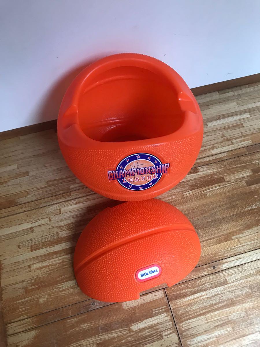 レア little tikes リトルタイクス バスケットボール型 USA製 おもちゃ箱 トイボックス おしゃれにお片付け 収納 ボックス BOX_画像6
